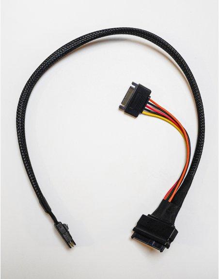 Riser cable U.2 NVMe SSD